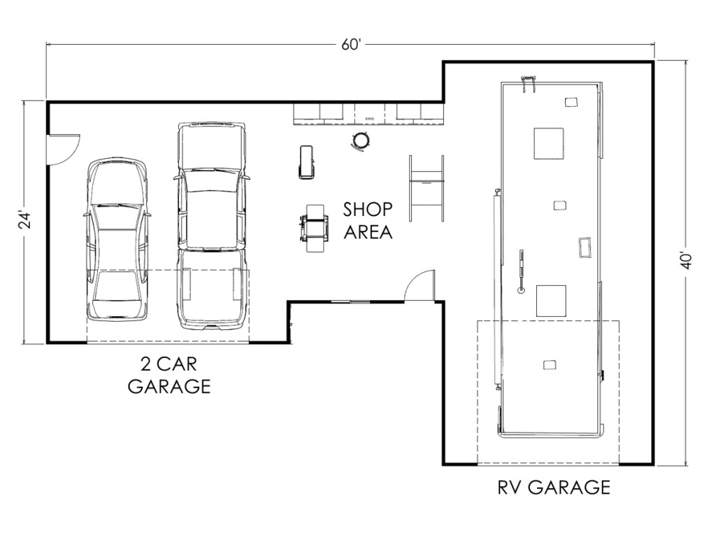 Custom garage layouts plans and blueprints true built home Garage layout planner
