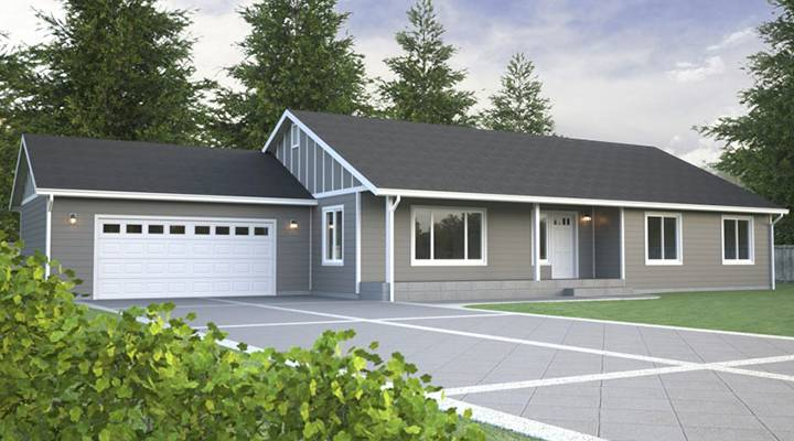View our rambler floor plans build on your lot true for Rambler house designs