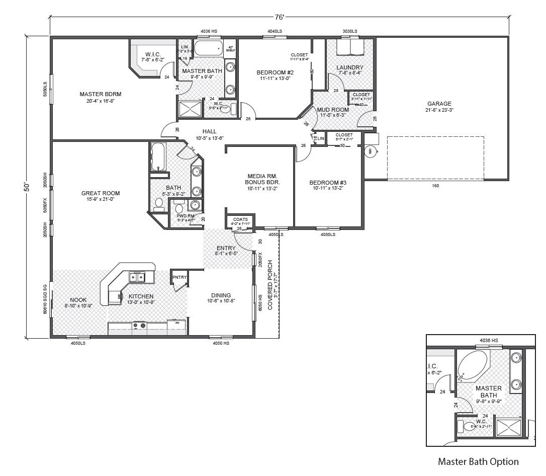 Rambler house plan monarch joy studio design gallery for Small rambler house plans