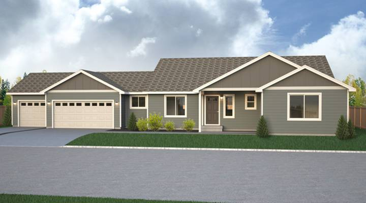 Branford park true built home for Rambler house plans with 3 car garage