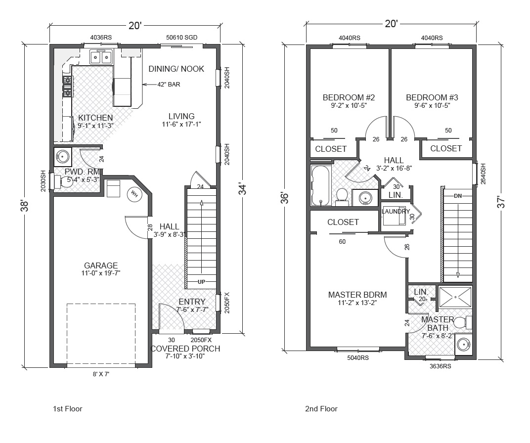 Town house true built home for Townhouse floor plans