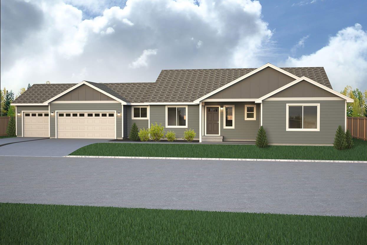 Branford park home plan true built home pacific for Rambler home