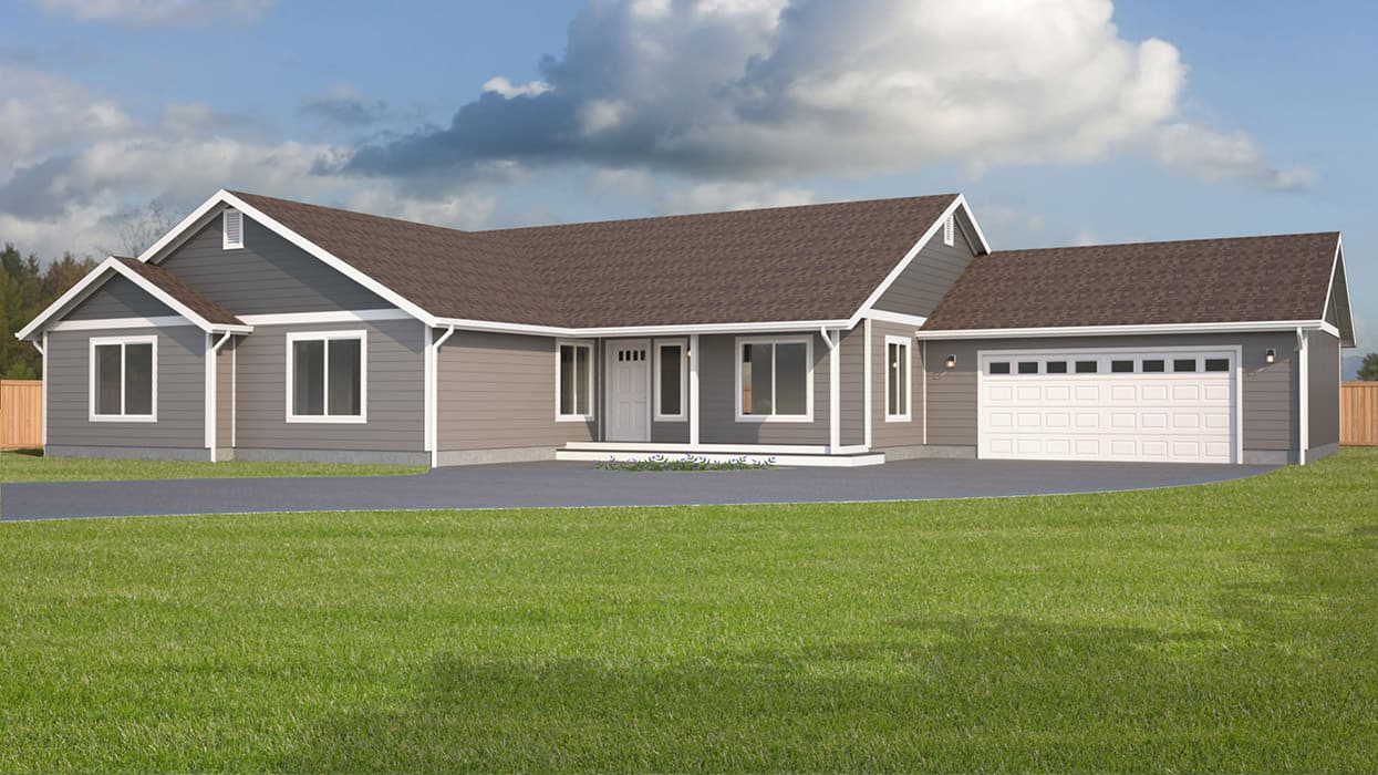 Rambler home plans true built home pacific northwest for Rambler home plans