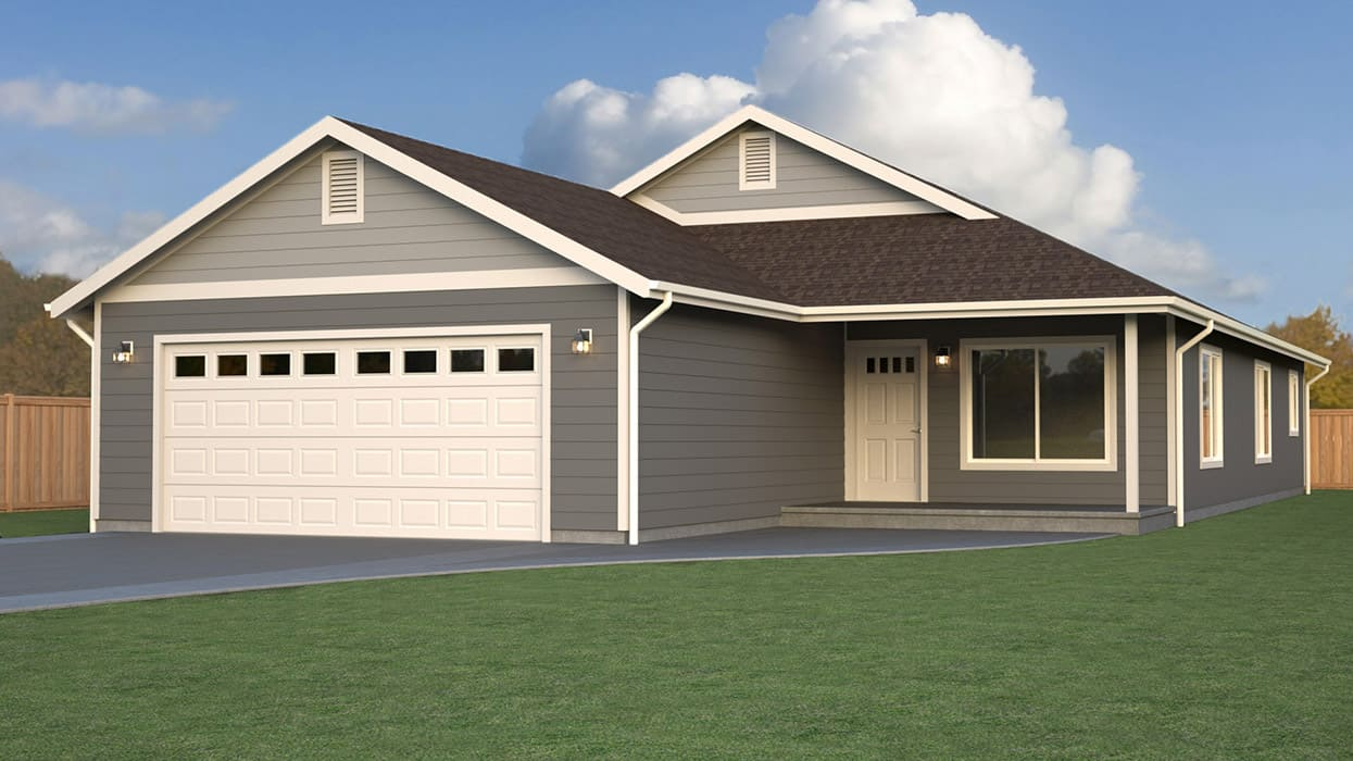 New haven home plan true built home pacific northwest for Rambler home designs
