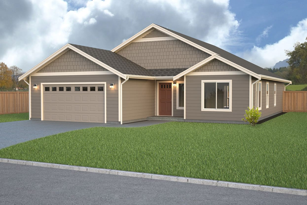 North hampton home plan true built home pacific for Rambler home plans