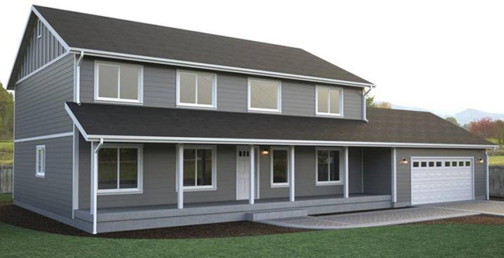 South hampton home plan true built home pacific for Multi level home designs