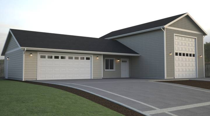 New Homes With Detached Garages