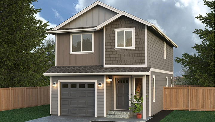 Multi level home plans true built home pacific for Pacific northwest houses