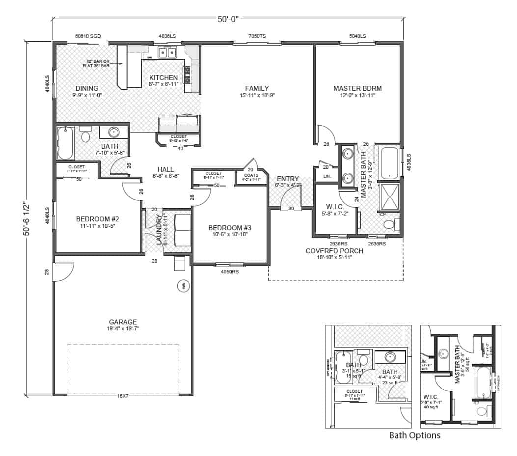 Wainsford home plan true built home pacific northwest for Rambler floor plan