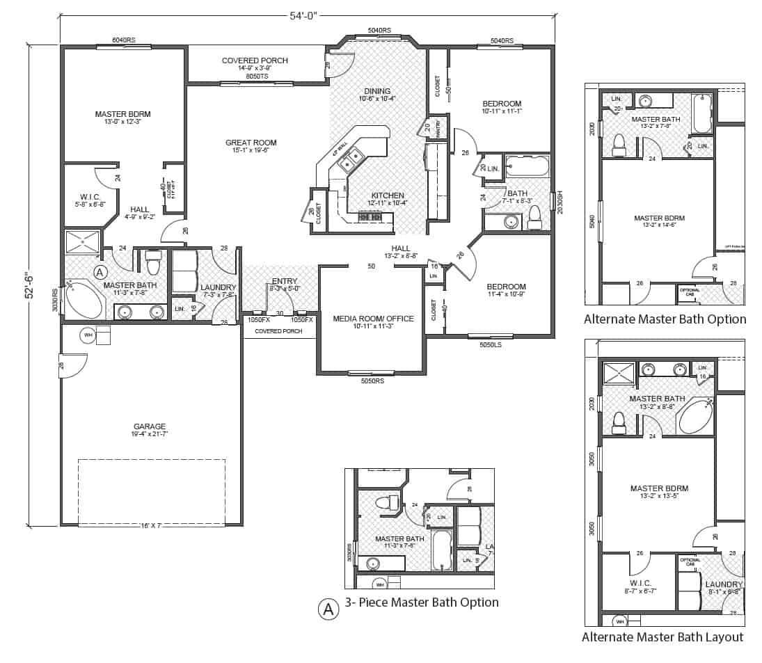 Rambler floor plans plan 205385 tjb homes rambler house for Rambler home plans