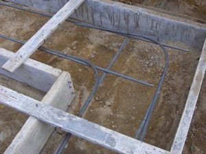 Rebar in the foundation