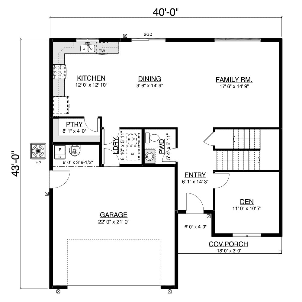 North Wood floor plan layout