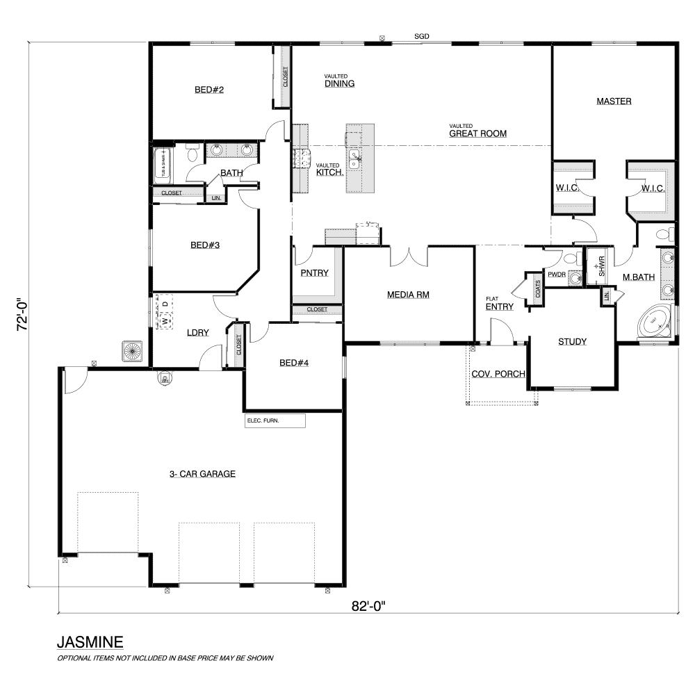 Jasmine Home Plan Layout