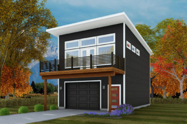 Keyport Home Plan - ADU Garage with optional porch