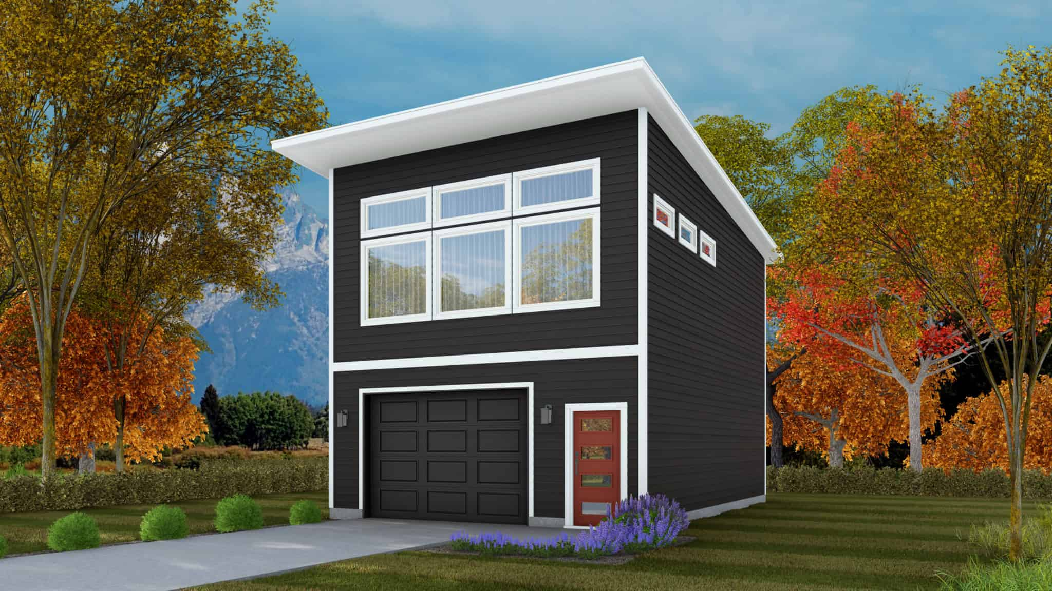 Keyport Home Plan - ADU Garage