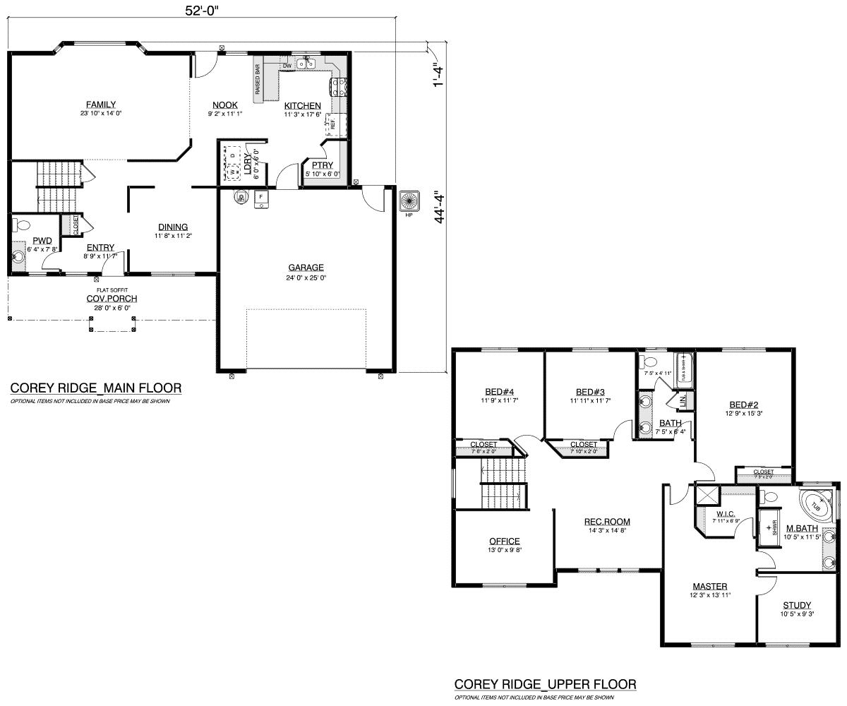 Corey Ridge Floor Plan Layout