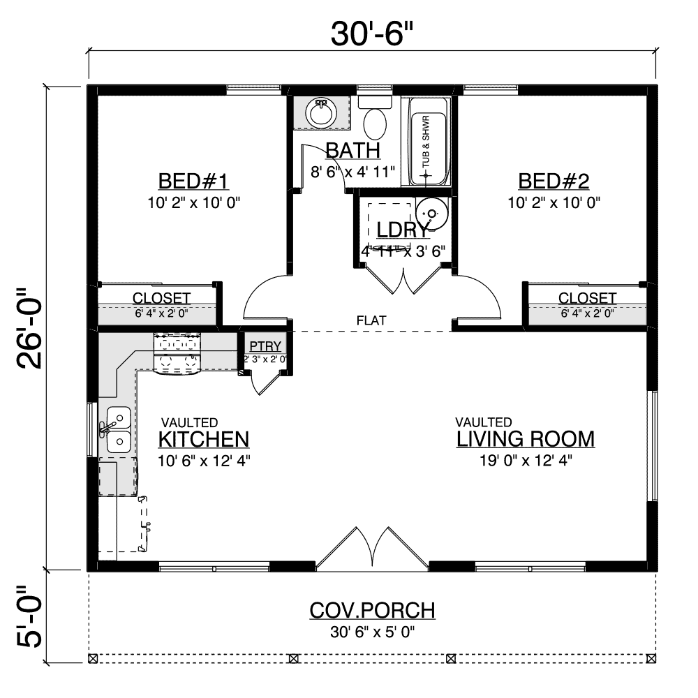 Pacific Home Plan Layout