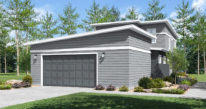 Cascade Home Plan Garage View